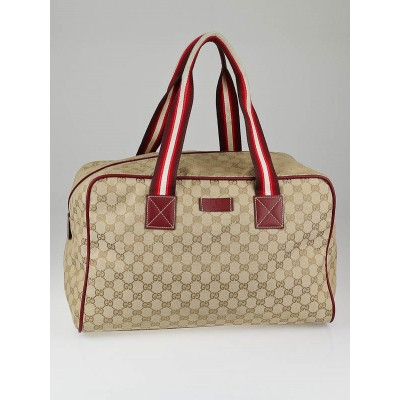 Gucci Beige GG Canvas  Carryall Duffle Bag