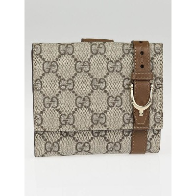 Gucci Beige/Brown GG Coated Canvas Nice Compact Wallet