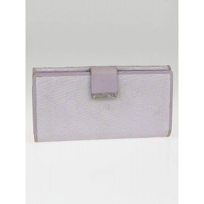 Gucci Lilac GG Canvas Long Flap Wallet