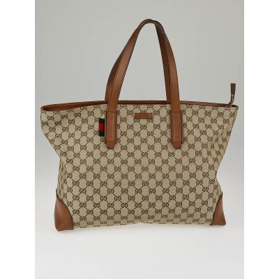 Gucci Beige/Tan GG Canvas Original Large Tote Bag