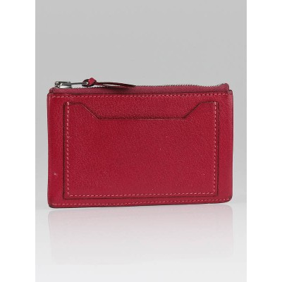 Hermes Framboise Chevre Leather Clarisse PM Card Case