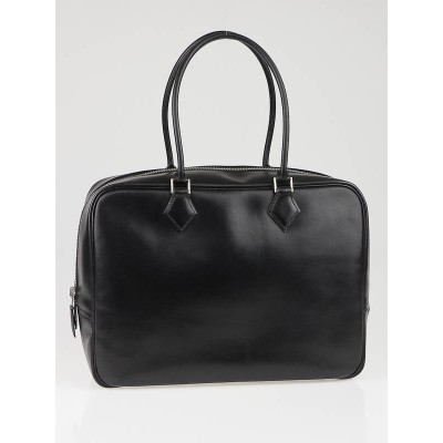 Hermes 32cm Black Box Leather Plume Bag