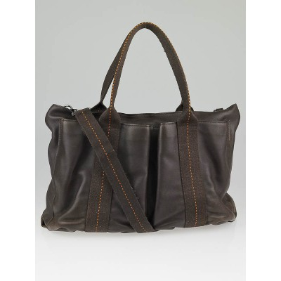 Hermes Brown Leather Caravane Horizontal PM Tote Bag
