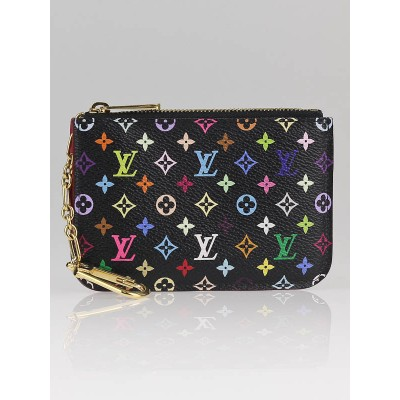 Louis Vuitton Black/Grenade Monogram Multicolore Key Pouch