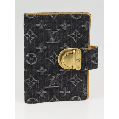 Louis Vuitton Black Denim Monogram Denim Small Agenda/Notebook