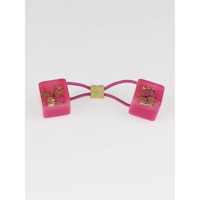 Louis Vuitton Pink Resin Inclusion Hair Cube