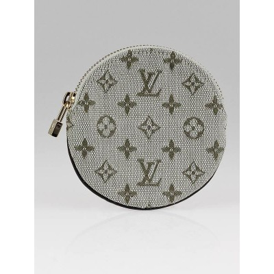 Louis Vuitton Green Monogram Mini Lin Round Coin Purse