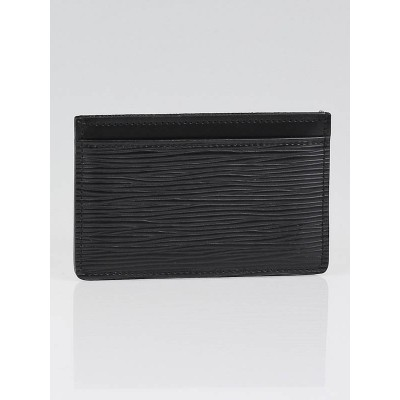 Louis Vuitton Black Epi Leather Simple Card Holder