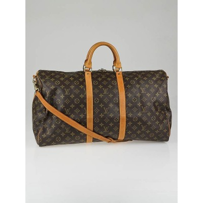 Louis Vuitton Vintage Monogram Canvas Keepall Bandouliere 55 Bag