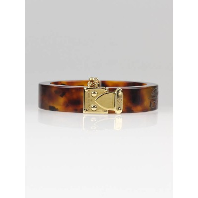 Louis Vuitton Ecaille Resin Lock Me Bracelet