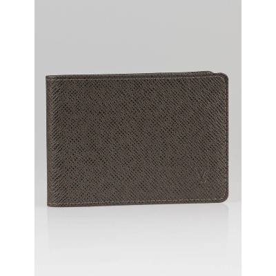Louis Vuitton Grizzili Taiga Leather Billfold Wallet with Three Flaps