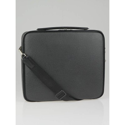 Louis Vuitton Black Taiga Leather Odessa Computer Case Bag