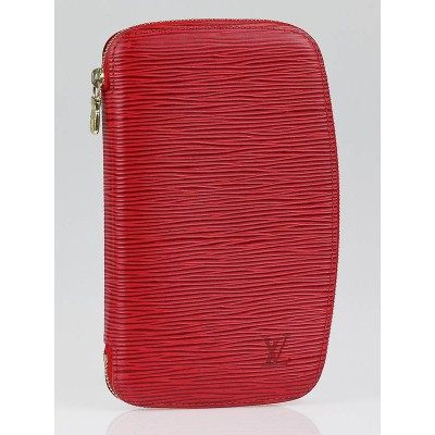 Louis Vuitton Red Epi Leather Geode Organizer Zippy Wallet