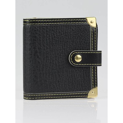 Louis Vuitton Black Suhali Compact Zippe Wallet