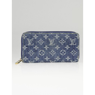 Louis Vuitton Blue Denim Monogram Denim Zippy Wallet