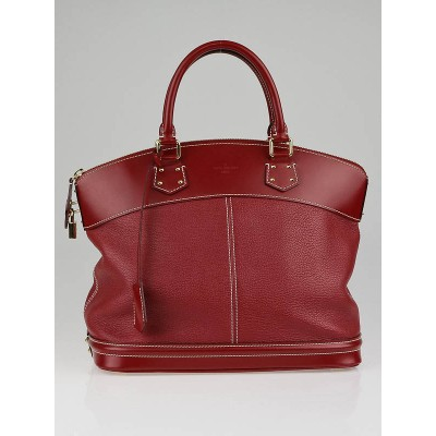 Louis Vuitton Tanami Red Suhali Leather Lockit MM Bag