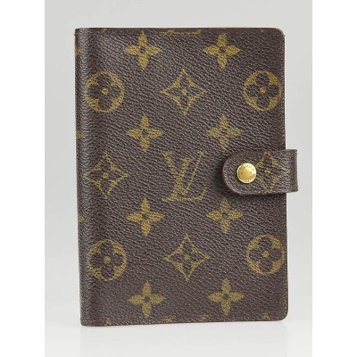 Louis Vuitton Monogram Canvas Small Ring Agenda Cover Notebook