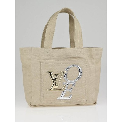 Louis Vuitton Limited Edition Ecru Canvas That's Love 2 PM Tote Bag