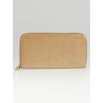 Louis Vuitton Noisette Monogram Vernis Zippy Long Wallet
