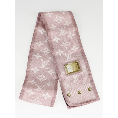 Louis Vuitton Pale Pink Silk New Denim Bandeau Scarf