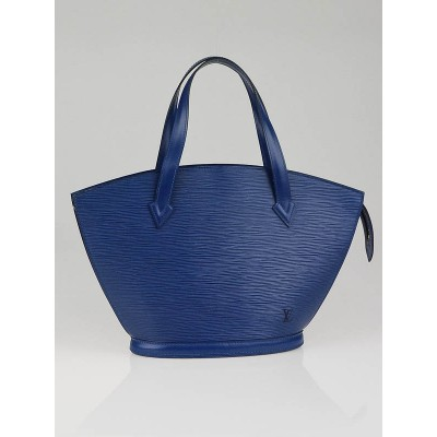 Louis Vuitton Toledo Blue Epi Leather Saint Jacques Bag