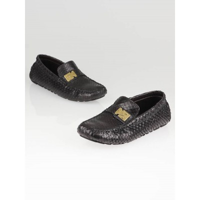 Louis Vuitton Cacao Anaconda Lombok Driving Loafers Size 9.5