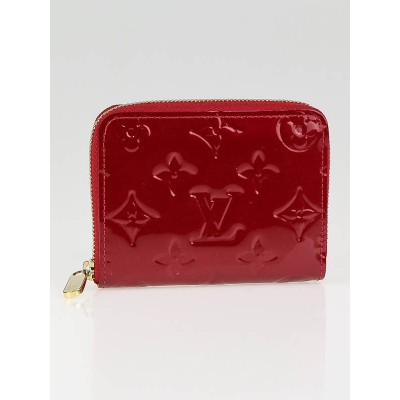 Louis Vuitton Red Monogram Vernis Coin Purse