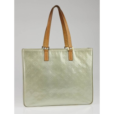 Louis Vuitton Silver Monogram Vernis Columbus Tote