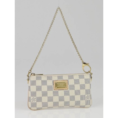 Louis Vuitton Damier Azur Pochette Milla MM Bag