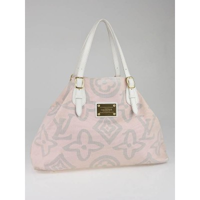 Louis Vuitton Limited Edition Pink/Grey Tahitienne Cabas GM Bag