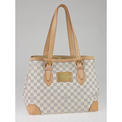 Louis Vuitton Azur Damier Canvas Hampstead MM Bag