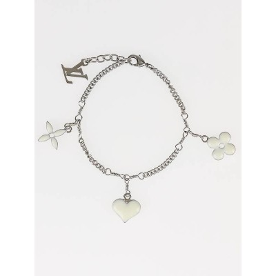 Louis Vuitton White/Silver Monogram Sweet Charm Bracelet