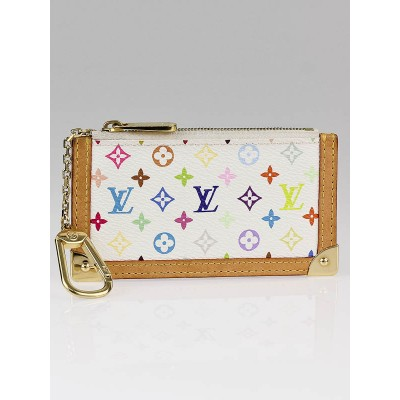 Louis Vuitton White Multicolore Canvas Key and Change Holder