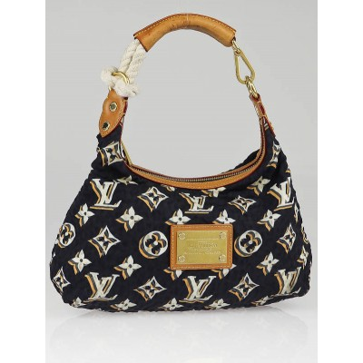 Louis Vuitton Limited Edition Navy Nylon Monogram Bulles PM Bag
