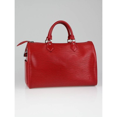 Louis Vuitton Rouge Epi Leather Speedy 30 Bag