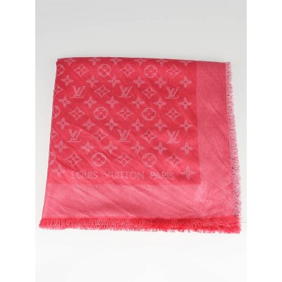 Louis Vuitton Corail Monogram Voile Shawl