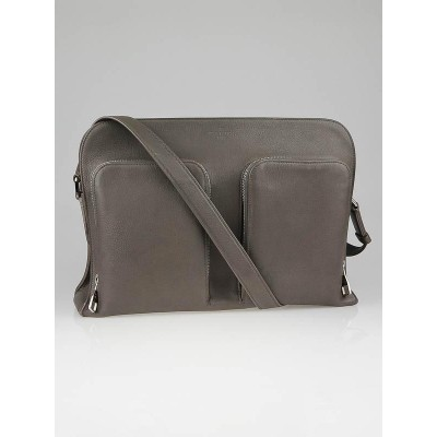 Louis Vuitton Taupe Naxos Leather Messenger Bag