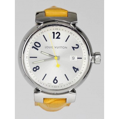 Louis Vuitton 39.5mm Silver Dial Tambour Swiss Quartz Watch