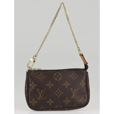 Louis Vuitton Monogram Canvas Mini Pochette Accessories Bag