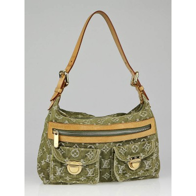 Louis Vuitton Green Denim Monogram Denim Baggy PM Bag