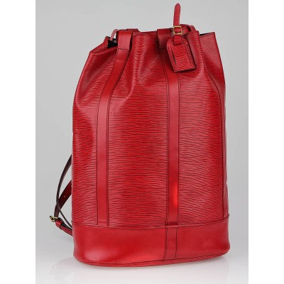 Louis Vuitton Red Epi Leather Randonnee GM Bag