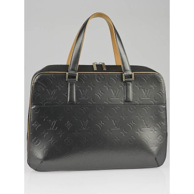 Louis Vuitton Black Monogram Mat Malden Tote Bag