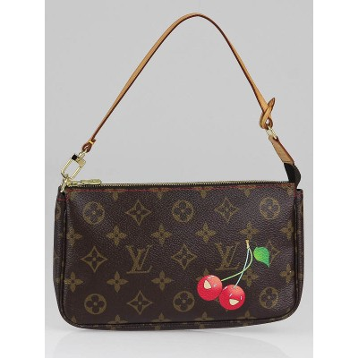 Louis Vuitton Limited Edition Cerises Monogram Canvas Accessories Pochette Bag