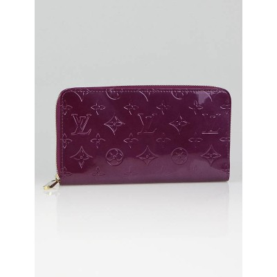 Louis Vuitton Violette Monogram Vernis Zippy Organizer Wallet