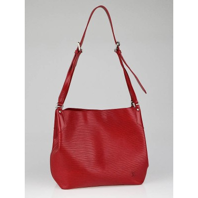 Louis Vuitton Rouge Epi Leather Mandara MM Bag