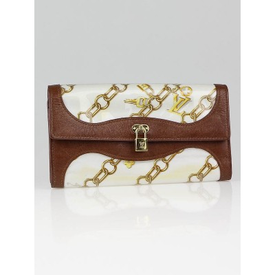 Louis Vuitton Limited Edition White Monogram Charms Porte Monnaie Wallet