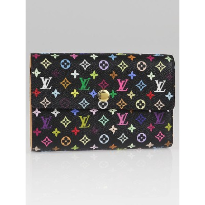 Louis Vuitton Black Monogram Multicolore Alexandra Wallet