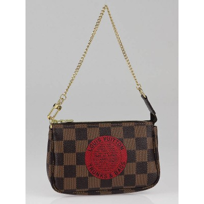 Louis Vuitton Limited Edition Damier Canvas Trunks & Bags Mini Accessories Pochette Bag