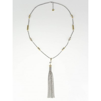Louis Vuitton Gold and Silver All That Jazz Long Necklace