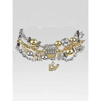 Louis Vuitton Gold and Silver All That Jazz Charm Bracelet